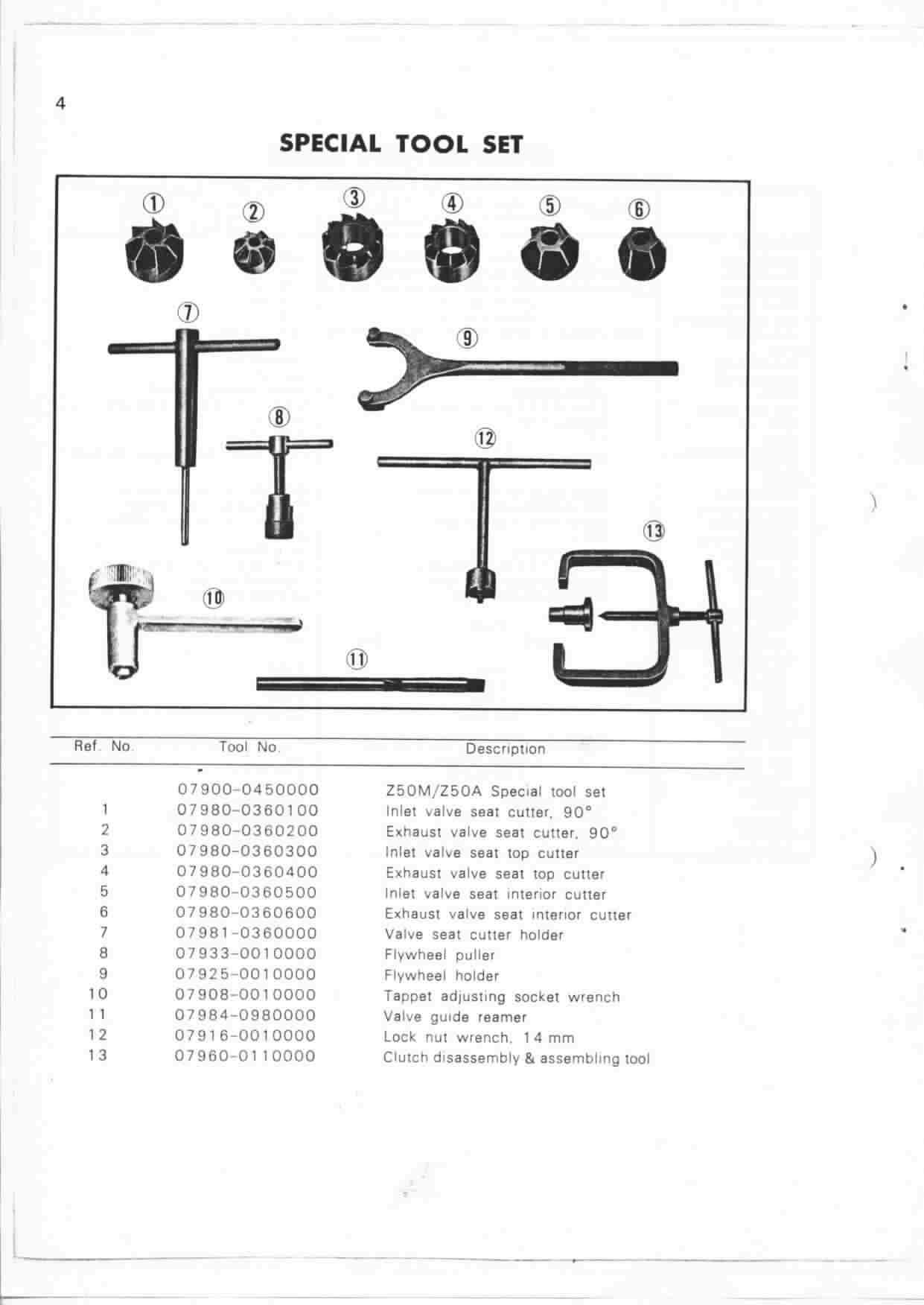 Honda Manual For Monkey Z50a Mini Trail Z50j Wiring Diagram 06